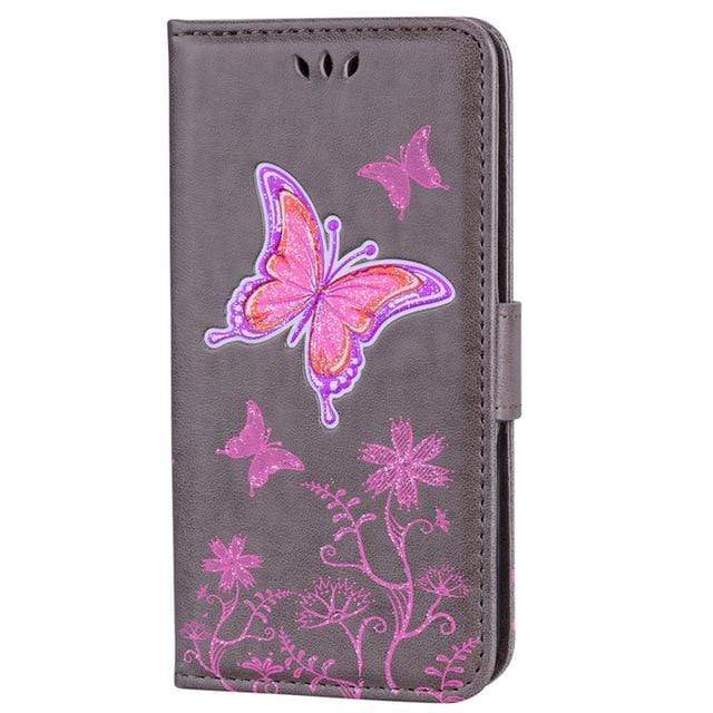 Luxury Wallet Flip Case or Cover For Apple iPhone with kickstand - HomeWareBargains