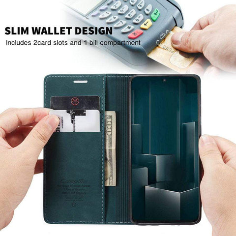 Retro Flip Case or Cover For Samsung with Magnets, Wallet and Kickstand - HomeWareBargains