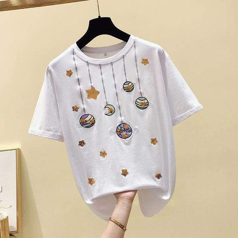 Women Harajuku T-Shirt - Loose Vintage Plus Size - HomeWareBargains