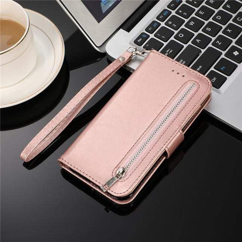 Leather Zipper Wallet Case or Cover For Samsung - HomeWareBargains