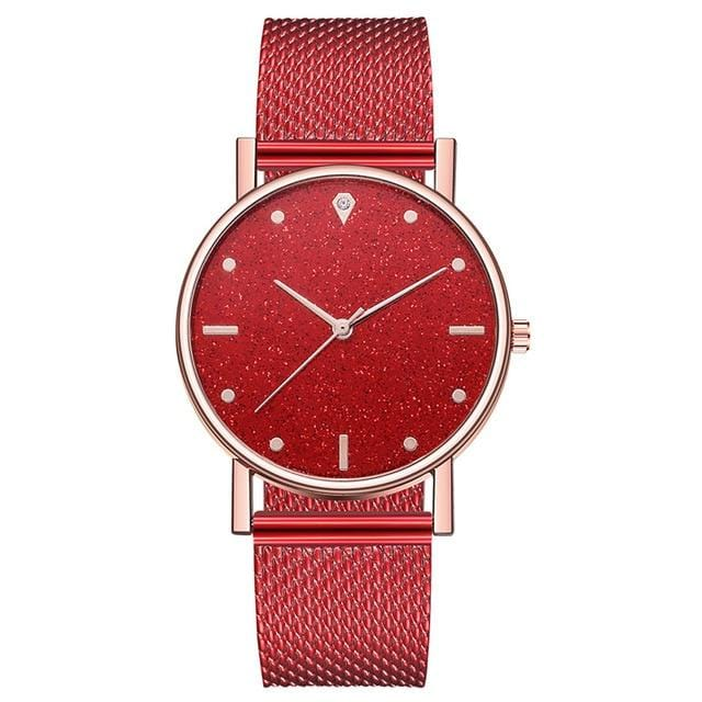 Women's Dress Watch with Classic Stainless Steel Band - Analog with Quartz Movement