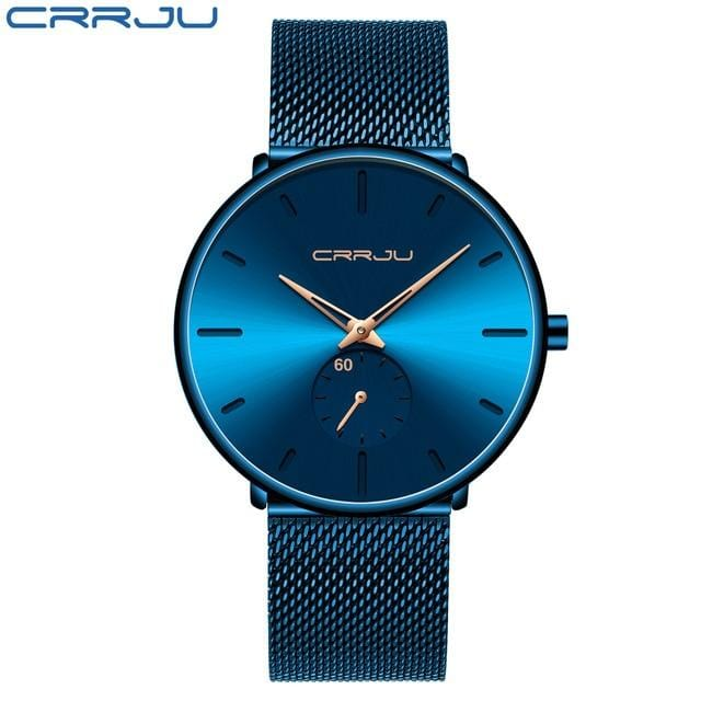 CRRJU Fashion Men's Watch - Luxury with Quartz Movement - Slim and Waterproof