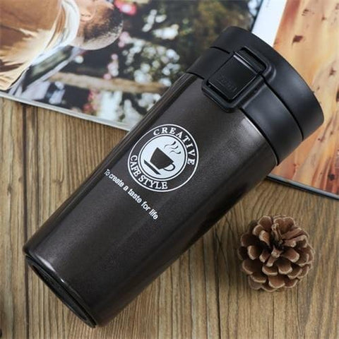 Vacuum Flask Coffee Mug with Double Wall made of Stainless Steel - HomeWareBargains