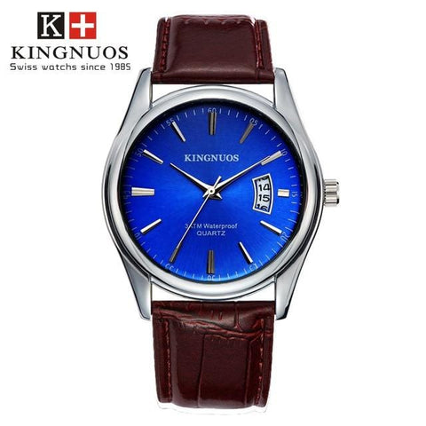 Luxury Mens Watch Waterproof with Date Clock - Quartz powered