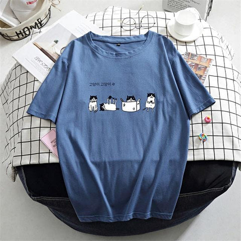 Women's Cute T-Shirt Kawaii Cartoon Animals - HomeWareBargains