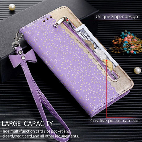 Magnetic Leather Wallet Phone Case for IPhone X XS MAX XR 11 Pro Max 6 6S 7 8 Plus 5S 5 SE 2020 Zipper Flower Cover
