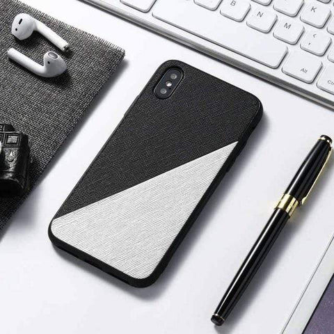 Black Silver Leather Case For Samsung Galaxy A51 A71 A31 A41 A50 A70 A40 A30 A21S A6 A9 A7 2018 Note 20 Ultra 10 Pro 8 9 M31 M21 M11 Case