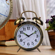 Classic Style - Quartz Stainless Metal Alarm Clock - AA Battery Operated