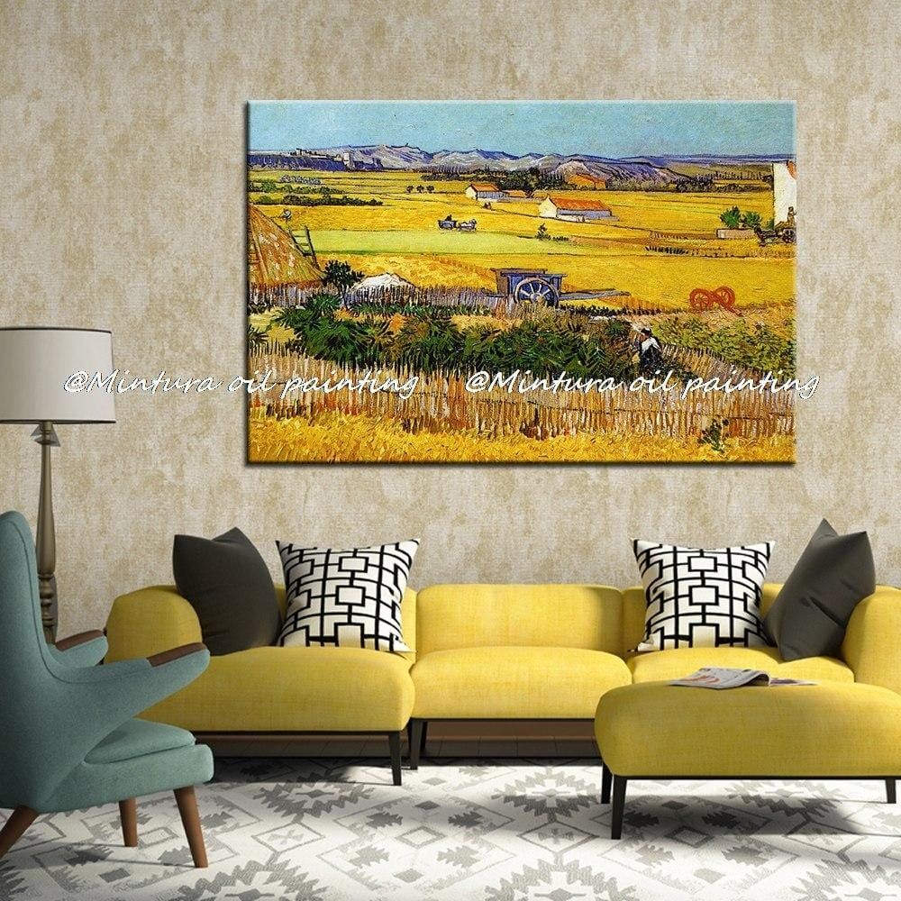 The Harvest (Wheatfields) Reproduction Vincent Van Gogh Oil Painting On Canvas