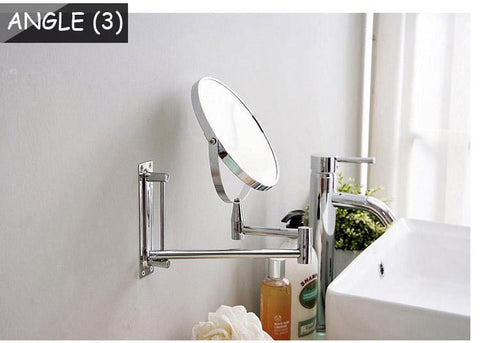Wall Mirror Double Side Bathroom Cosmetic Makeup and Shaving Faced Rotatalbe 7 inches and 3 x Magnifying