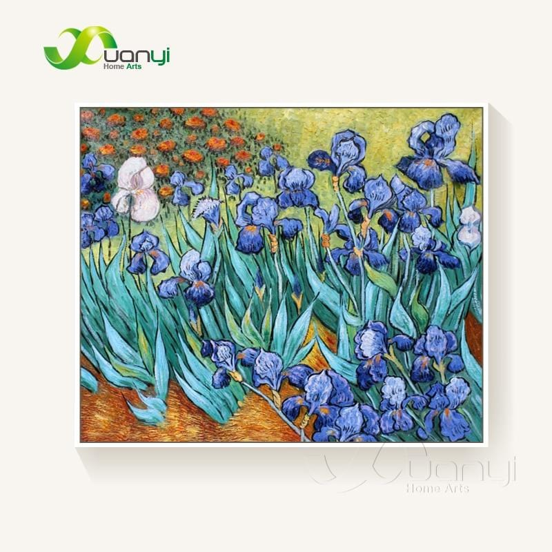 Van Gogh Irises Painting Reproduction Handmade Oil Painting