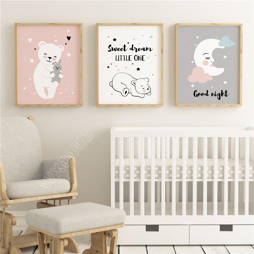 Nursery / Kids / Baby Room - Calming and soothing art. Print on Canvas.
