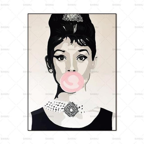 Print on Canvas  Audrey Hepburn