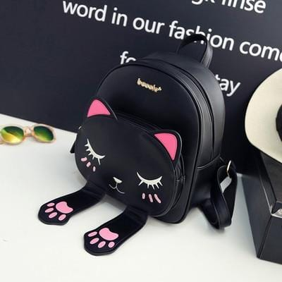 Cat Themed Kitty Backpack with PU Leather Ears and Paws - HomeWareBargains