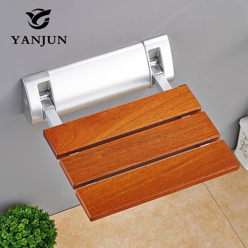 Folding Chair Bath Shower Seat - Wall Mounted Relaxation Shower Chair
