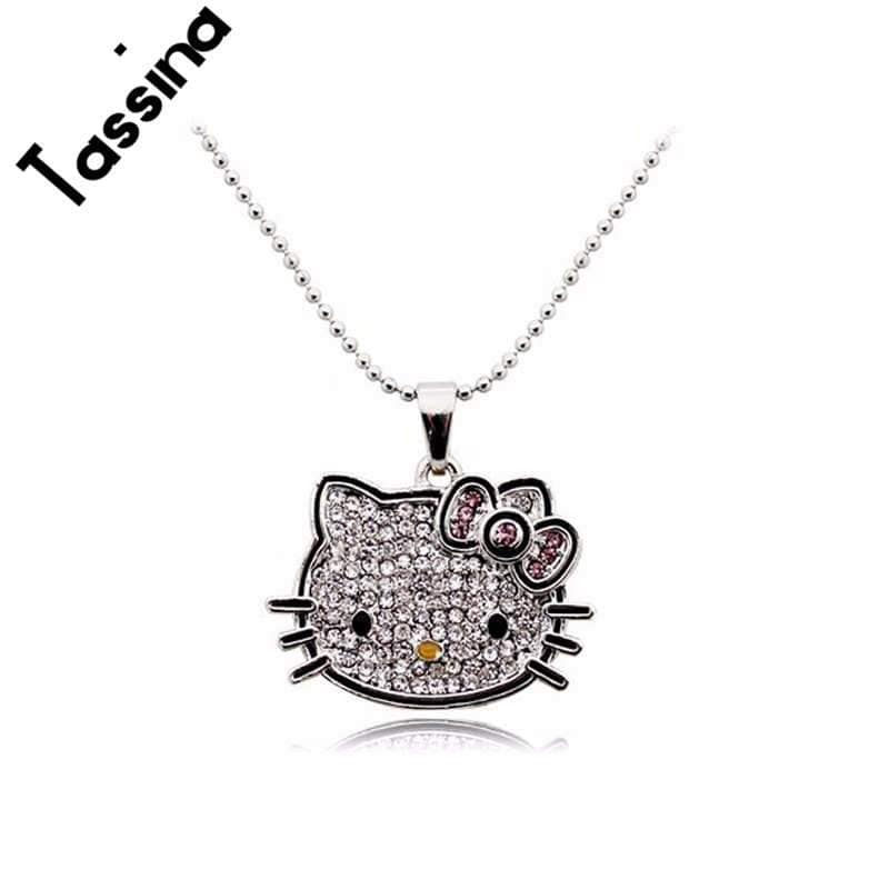 Cute hello kitty-style Cat Necklaces Pendants Fashion - HomeWareBargains