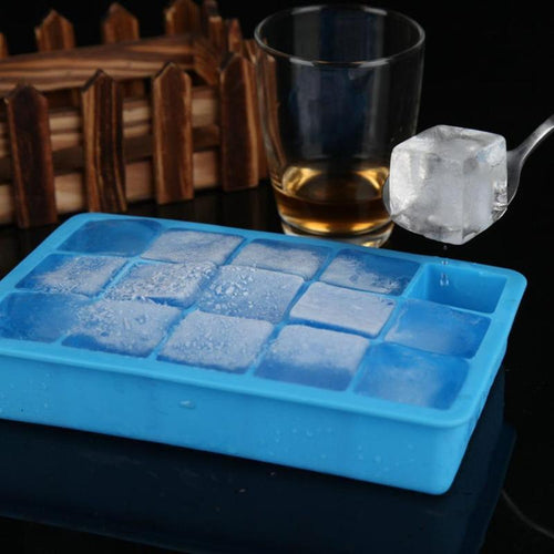 15 Large Cube - Silicone Square Shape Ice Tray