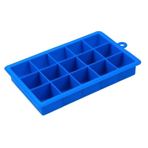 15 Large Cube - Silicone Square Shape Ice Tray - HomeWareBargains