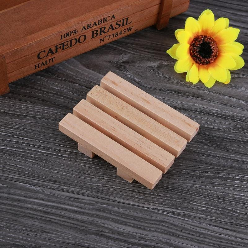 Bathroom Wooden Soap Dish - HomeWareBargains