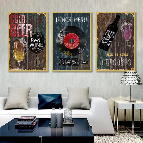Vintage Collection of  Canvas Art Prints