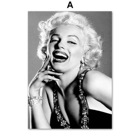 Marilyn Monroe Vintage Print on Canvas