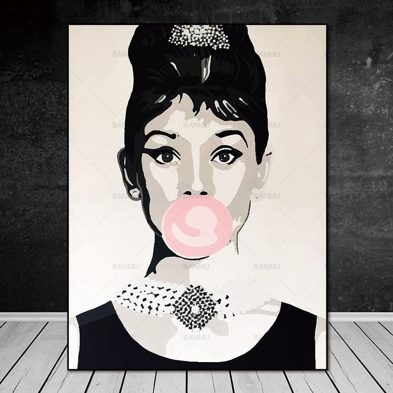 Print on Canvas  Audrey Hepburn - HomeWareBargains
