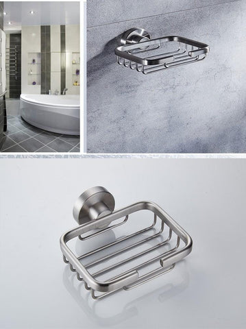 Solid 304 Stainless Steel Soap Basket / Soap Dish Holder