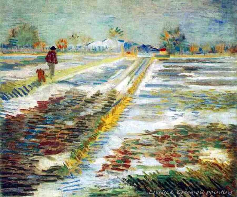 Landscape With Snow Of Vincent Van Gogh Hand Made Reproduction Oil Painting On Canvas