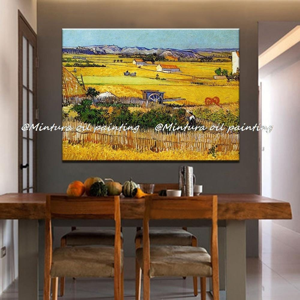 The Harvest (Wheatfields) Reproduction Vincent Van Gogh Oil Painting On Canvas - HomeWareBargains