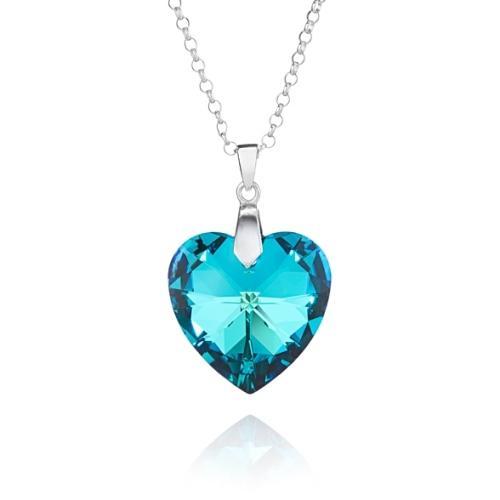 270546f8726f Titanic Crystal Heart Pendant Sterling Silver Necklace made with Swarovski®  Crystals-Bespoke Jewellery Collection