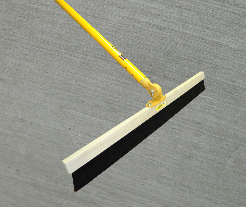 "Medium Soft .010"" Poly Concrete Broom with Fixed Adjustable Universal 2-bolt Head"