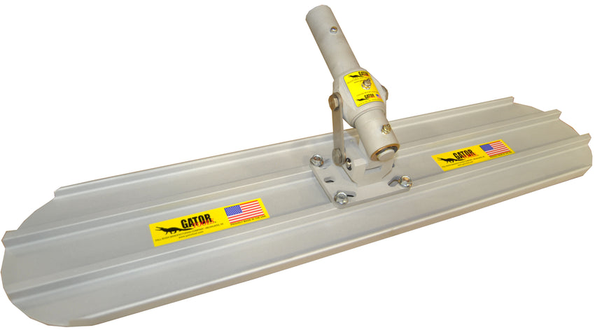 "24"" x 8"" (2 ft) Bull Float with Adjustable Leveling Head Round End"
