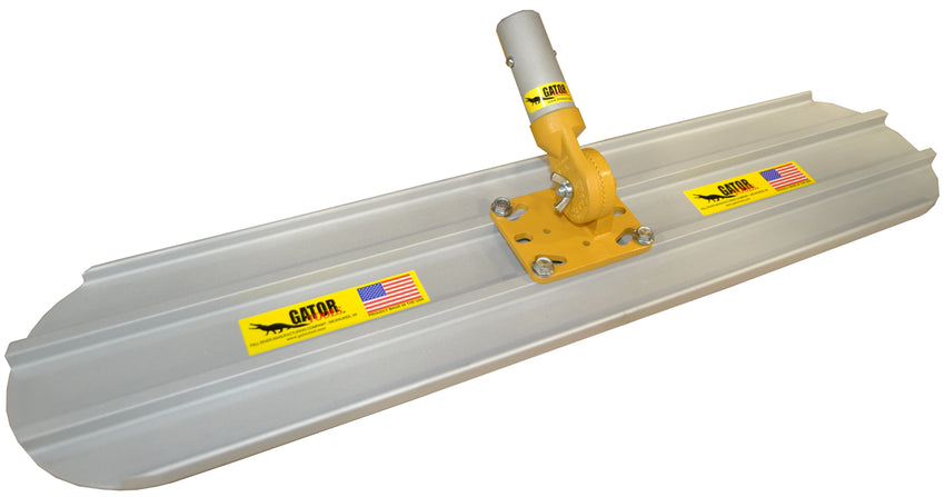 "30"" x 8"" (2 1/2 ft) Bull Float with Fixed Adjustable Universal 4-bolt Head Round End"