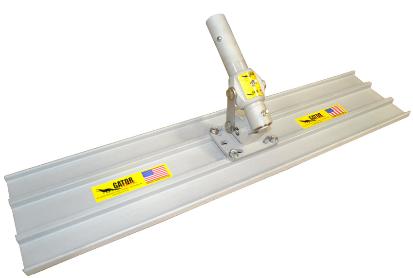 "36"" x 8"" (3 ft) Bull Float with Adjustable Leveling Head Square End"