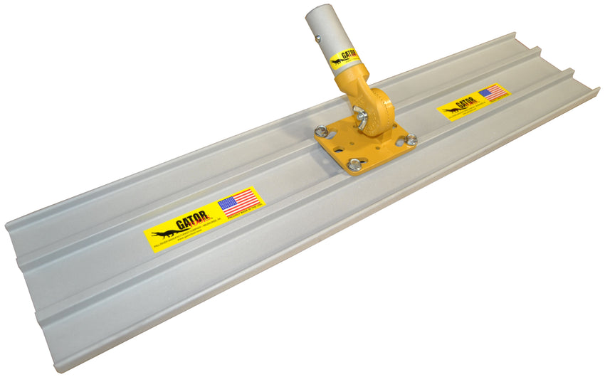 "24"" x 8"" (2 ft) Bull Float with Fixed Adjustable Universal 4-bolt Head Square End"