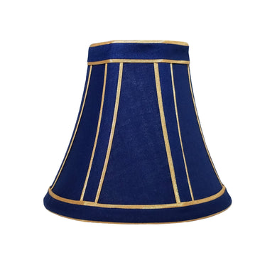 Midas Touch, navy blue, gold, two-toned, bell, fabric liner, 3x6x5