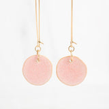 Rhubarb Clay Drop Earrings