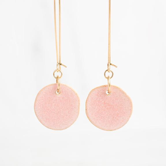 Blush Clay Drop Earrings