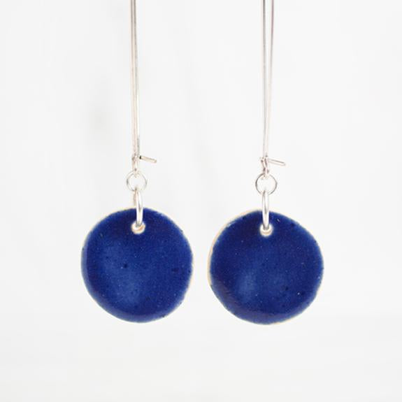 Cobalt Clay Drop Earrings