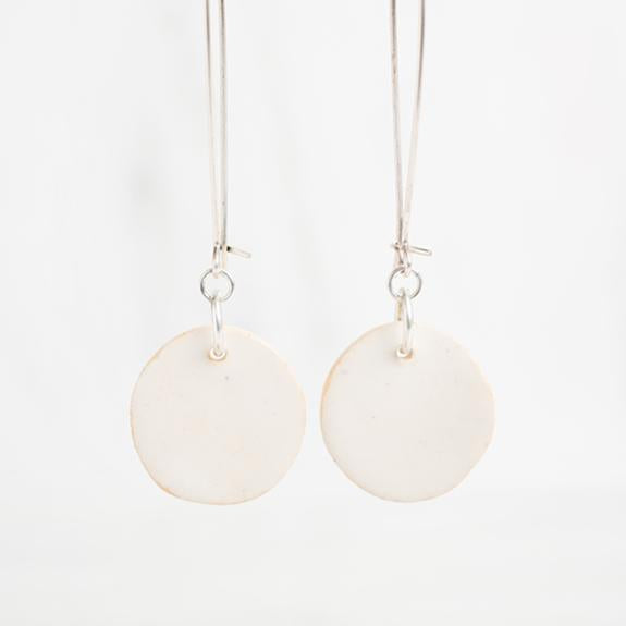 Ivory Clay Drop Earrings