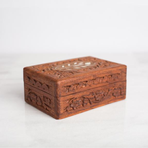 Carved Wooden Keepsake Box