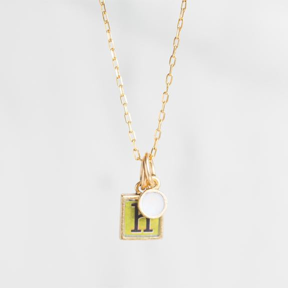 Birthstone + Initial Necklace