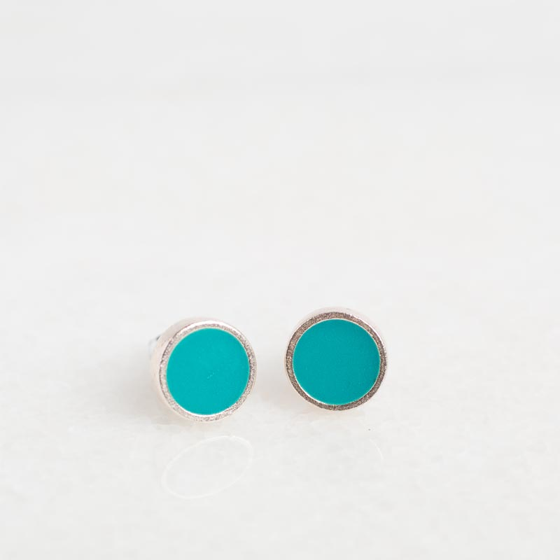 Brilliant Teal Earrings
