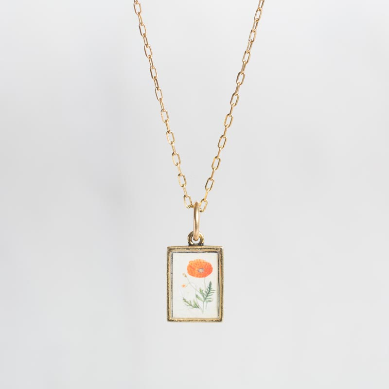Poppy Botanical Necklace