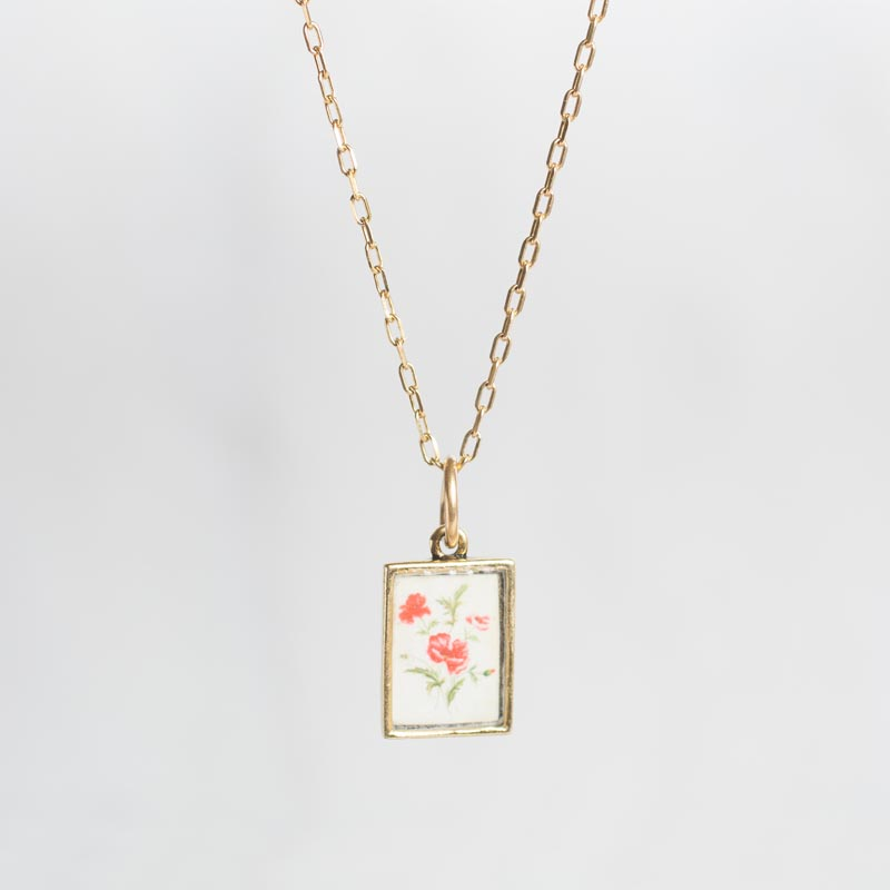 Rose Botanical Necklace