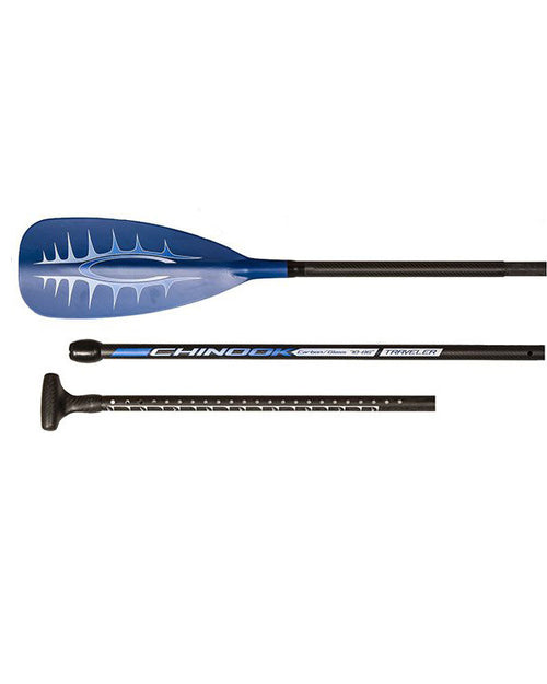 Blue Hybrid Traveler 3 Piece Adjustable SUP Paddle