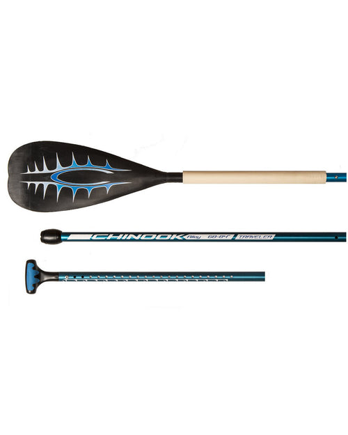 Alloy Traveler 3 piece Small Blade Adjustable SUP Paddle