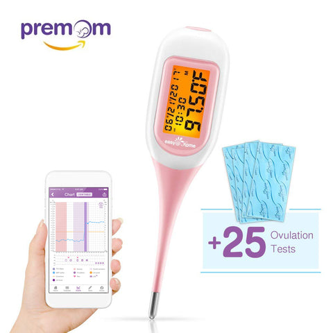 EBT-300 Smart Basal Thermometer plus 25 LH Strips Combo Kit