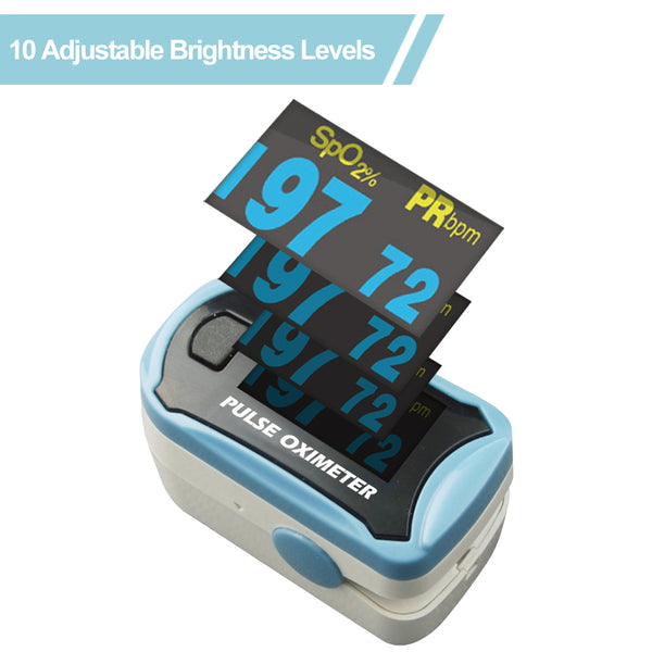 Easy@Home Fingertip Pulse Oximeter SpO2 Blood Oxygen Saturation Meter and Heart Rate Monitor, Rotatable OLED Display  -EHP029