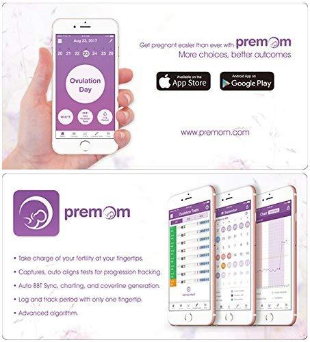 Premom hCG Pregnancy Test Strips -Individually Wrapped Pregnancy Test Kit- Over 99% Accurate and Powered by Premom Ovulation Predictor iOS and Android APP_#PM1-S